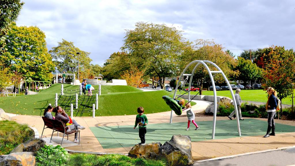 The modern playground that Goldberg designed