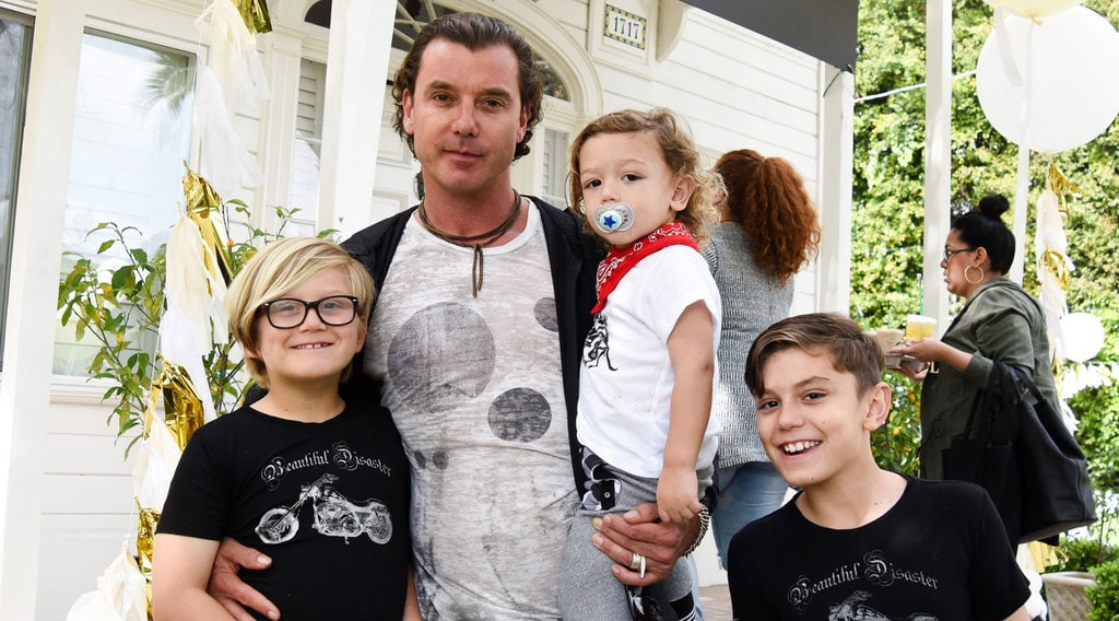 Gavin Rossdale with his sons from Gwen Stefani