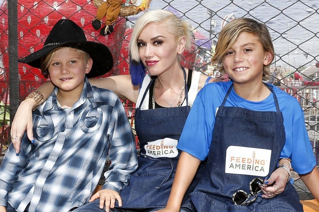 Gwen Stefani with her sons
