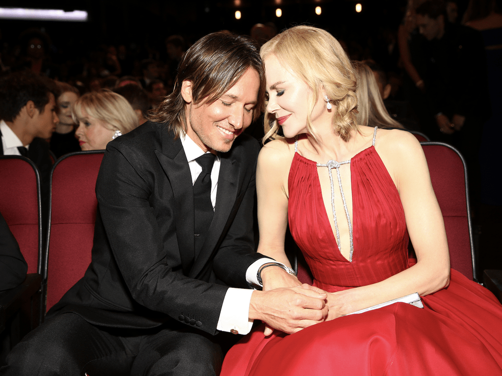Nicole Kidman with husband Keith Urban at an awards show