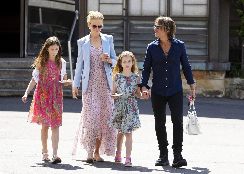 Nicole Kidman with her husband Keith Urban and their two daughters