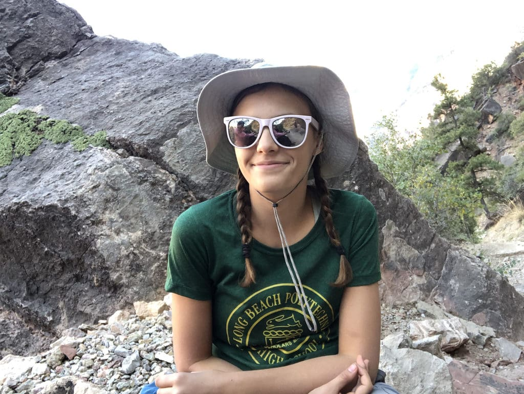 Lily Morse hiking in the Grand Canyon.