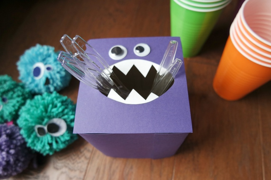 DIY purple monster tissue box